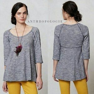 ANTHROPOLOGIE Postmark Pathed Seams Navy Tunic XS